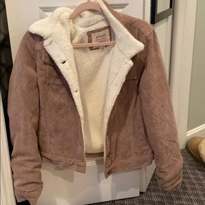 Pink Corduroy Fuzzy Lined Jacket